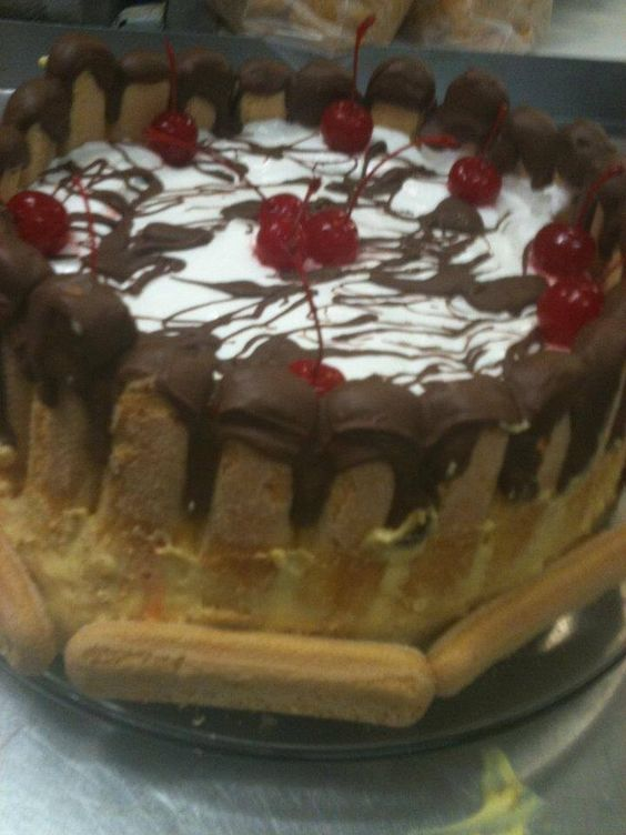 Torta de baunilha e chocolate