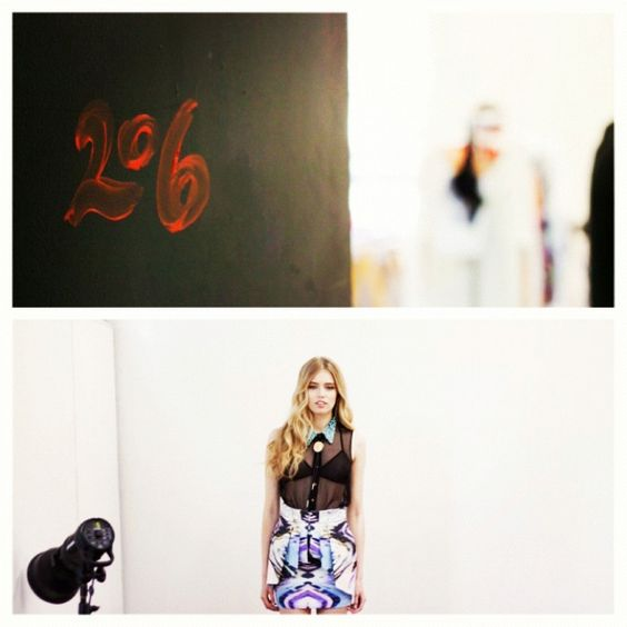 Natalie & Sarah SS12 Look Book shoot BTS - Studio 206