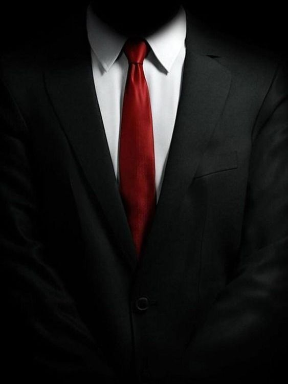 Hitman Agent 47 Black Suit In 2020 Black Suit Red Tie Black
