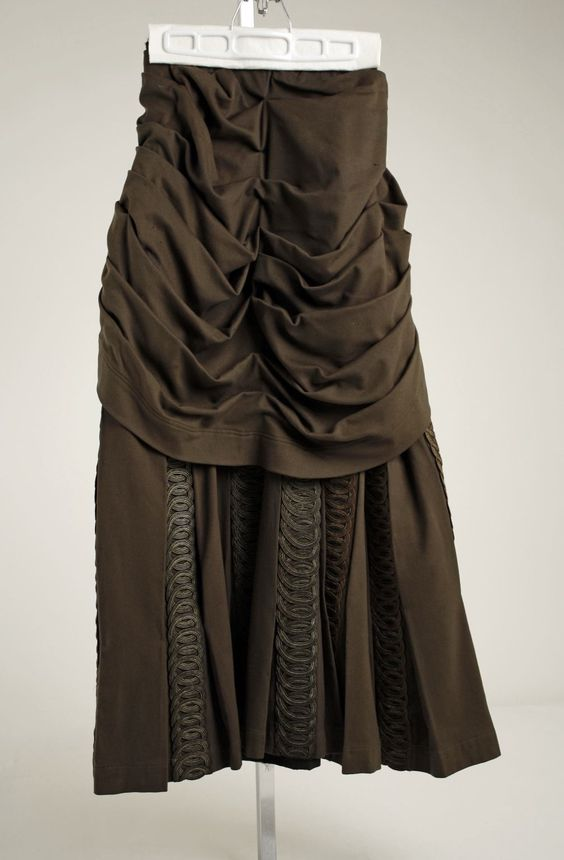 Day Dress Ensemble, Redfern, c. 1887 – 1889 Close-Up of Skirt