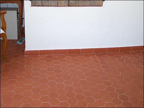 Carrelage Imitation Tomette Hexagonale Tomette Hexagonale Tomette Carrelage Rouge