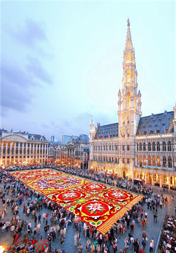 Brussels carpet of flowers | Belgian Presidency of the Council of the European Union