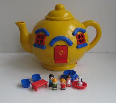 vintage, original 'Big Yellow Teapot' made by Bluebird Toys