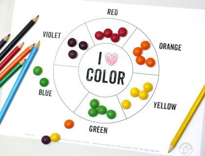 printable color wheel activity