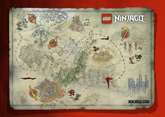 Ninjago Map Jpg Ninja Geburtstag Kindergeburtstag Geburtstagsparty
