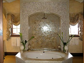 shower and toilet behind tub | Waterfall Designer | Waterfall Engineer » Water Feature Over Bathtub