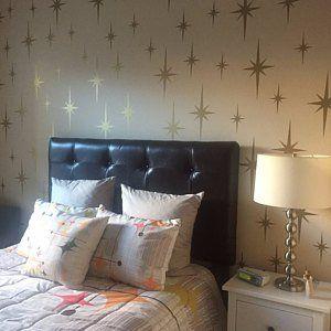 College Dorm Decorations Mid Century Modern Wall Decals Atomic Starburst