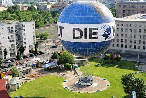 Weltballon: 150m über der Stadt - tolle Aussicht vom Fesselballon aus