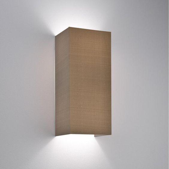 astro 4118 light brown fabric wall uplight electricsandlightingcouk brown fabric lighting