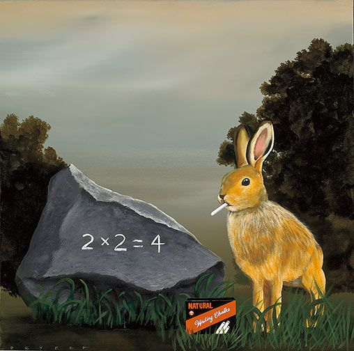 Rabbits Multiply III by Robert Deyber. acrylic on canvas. Available at Martin Lawrence Galleries.: