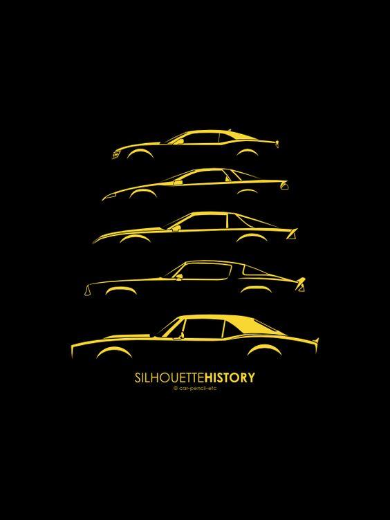 Evolution Of The Camaro Silhouette Silhouette History