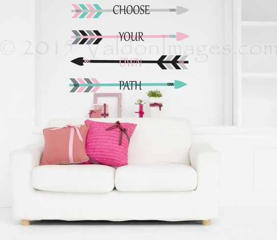 Choose your own path wall decal arrow wall decal by ValdonImages  #dormroomdecor…