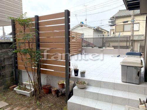 タイルデッキ施工例 581件 ファミリー庭園工事コミコミショップ タイルテラス 庭 リフォーム インテリアアーキテクチャ