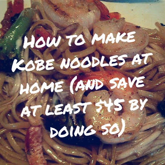 Kobe Noodles Recipe - make kobe's japanese style dinner for much less at home!