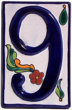 3D Talavera Ceramic House Number Nine