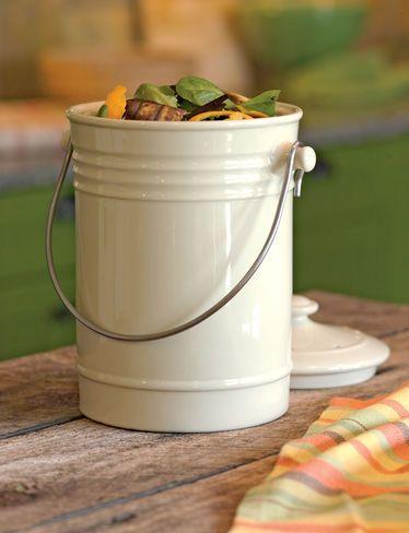 Compost Crock  - attractive way to store kitchen scraps