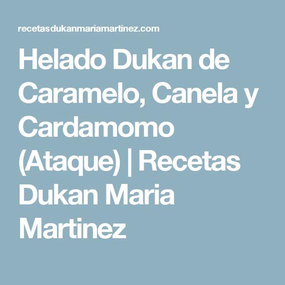 Helado Dukan de Caramelo, Canela y Cardamomo (Ataque) | Recetas Dukan Maria Martinez