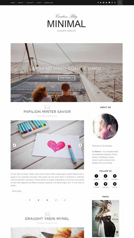 Minimal-Free-Responsive-Blogger-Template