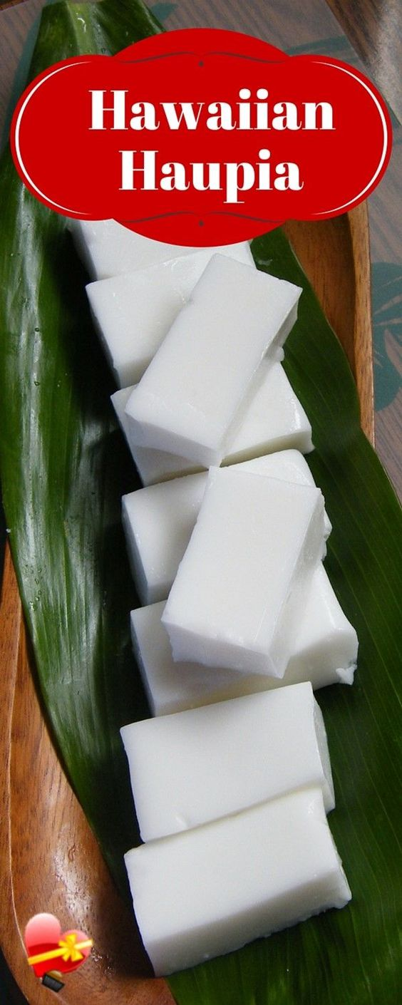 Easy Hawaiian Haupia coconut pudding recipe you can simply make at home. Get more delicious island style recipes here. only 4 ingredients (easy)