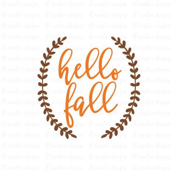 Hello Fall SVG, Fall SVG, Autumn SVG, Thanksgiving Svg, Laurel Wreath... (2.69 BAM) ❤ liked on Polyvore featuring home, home decor, thanksgiving home decor, fall home decor and autumn home decor