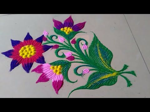 Colourful Shading Attractive Unique Rangoli Designs By Jyoti Raut Youtube Easy Rangoli Designs Rangoli Designs With Dots Small Rangoli Design