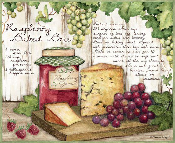 Susan Winget Raspberry bakes brie Lang April 2014: American Kitchen: