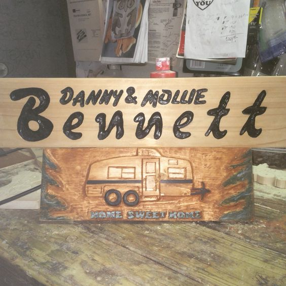 Woodcarving custom sign