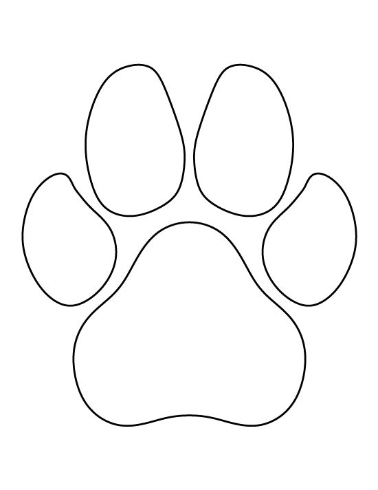 Dog Paw Print Pattern Use The Printable Outline For Crafts Creating