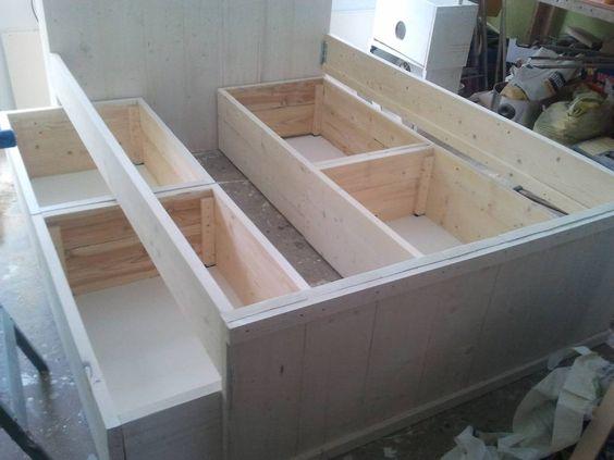 Steigerhout bed zelf maken google zoeken smart for Bed van steigerhout maken