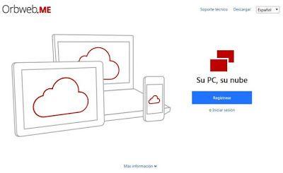 El Lado Curioso & Geek De La Red  ®: OrbwebME: una nube privada segura y gratuita