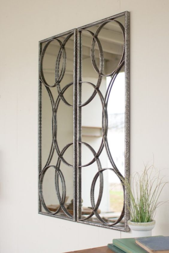 Kalalou Mirrored Wall Art - Set Of 2