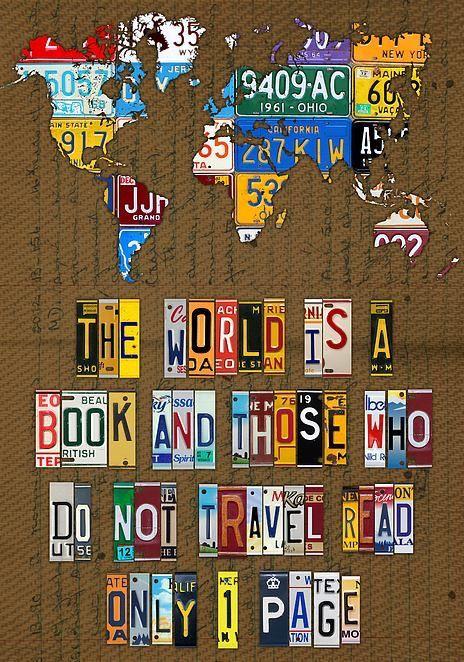 El mundo es un libro quienes no viajan leen solo una página
