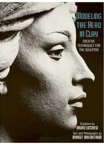 Sculpture House Modeling the Head in Clay by Bruno Lucchesi