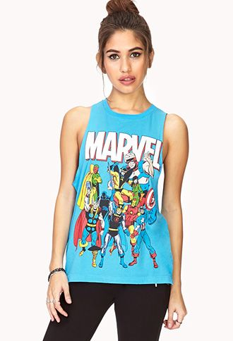 Marvel Characters Muscle Tee | FOREVER21 - 2000127438