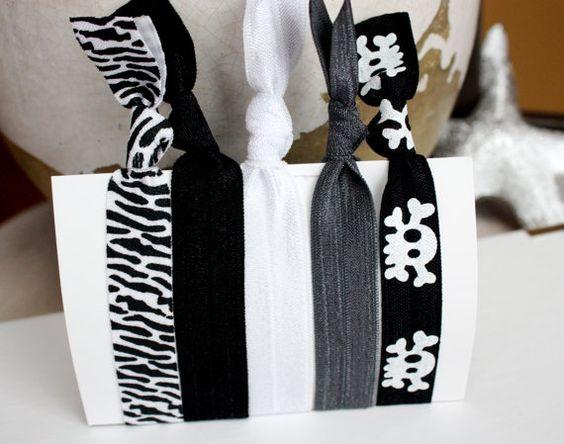 The  Wild One  Bundle of Five 5 Zebra Black White by PlumPosh, $6.00