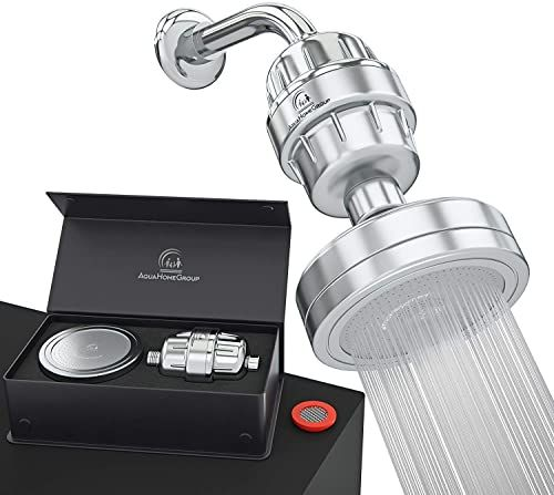 New Luxury Filtered Shower Head Set 15 Stage Shower Filter For