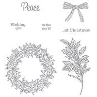 Peaceful Wreath Photopolymer Stamp Set by Stampin' Up!