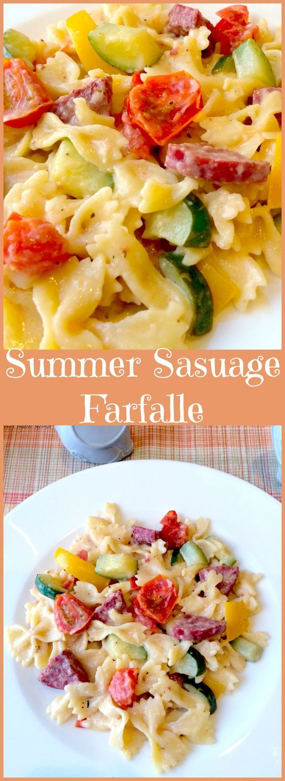Recipes with summer sausage and pasta