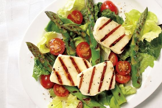 grilled halloumi happy long weekend asparagus salad salad recipes ...