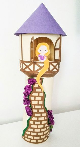 Centro de Mesa - Torre Rapunzel 35cm