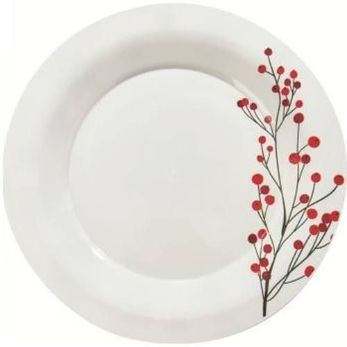Milan 7 25 Inch Holiday Winter Berries Plastic Plates Christmas Tableware Plastic Plates Dyi Christmas Decorations