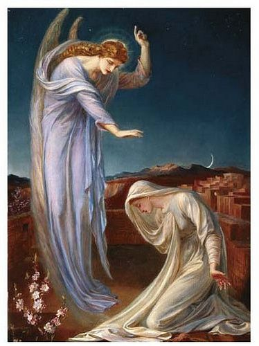 Annunciation 13.  The Angel Gabriel's announcement to the young virgin Mary,: