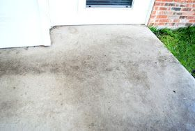 Diy miracle concrete patio cleaner the o 39 jays concrete for Vinegar on concrete floor