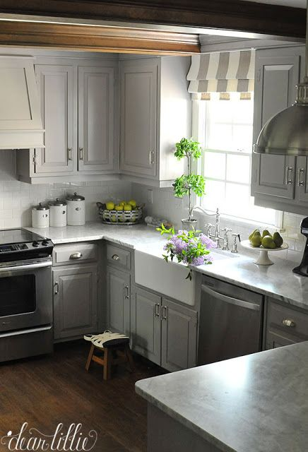 We Love Filling Our Farmhouse Sink In Our Gray And White