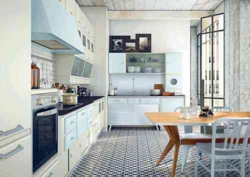 Kann die moderne Küche im Retro Stil gestaltet sein? Haus - küchen im retro stil