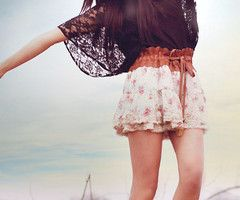 clothes: Black Lace, Summer Dress, Summer Outfit, High School, Fashion Style, Lace Top, Black Tops, Cute Skirts