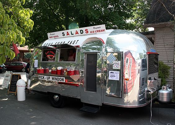 Soups, salads, organic ice cream + Airstream = pure joy