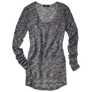 Mossimo® Women's Tunic Pullover Sweater - Black/Ivory click image to zoom