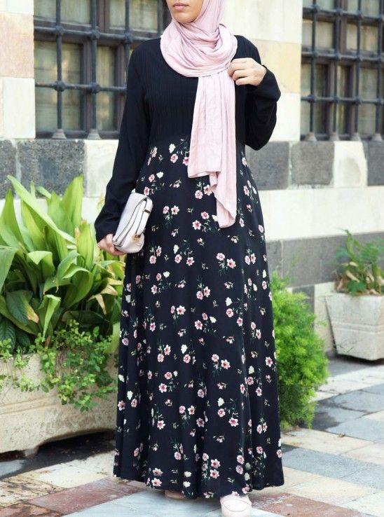 Details about  /Designer Print Eid Abaya Dress Hijab Modest Islamic  Women Girls Trendy Clothing