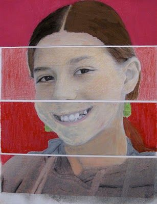 MIXED MEDIA SELF PORTRAITS  Tempera, Chalk Pastel, Oil Pastel, Color Pencil and Collage